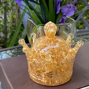 Gold Crown Decorative Resin Art Box